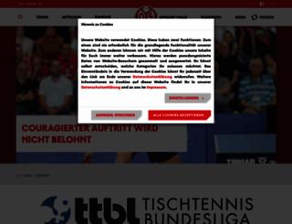 tischtennis.mainz05.de screenshot