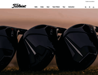 titleist.ca screenshot