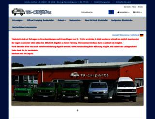 tk-carparts.de screenshot