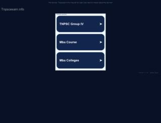 tnpscexam.info screenshot
