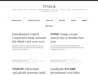 tnvelai.com screenshot