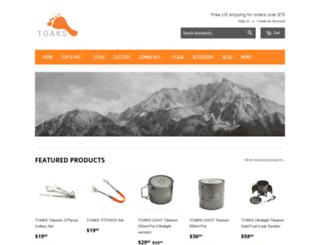 toaksoutdoor.com screenshot