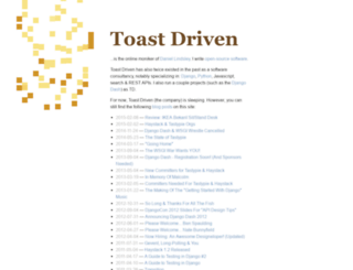toastdriven.com screenshot
