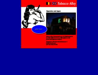 tobacco-alley.be screenshot