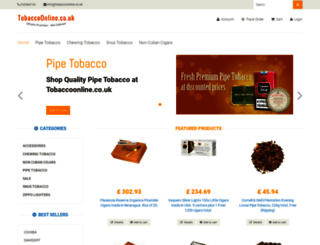 tobaccoonline.co.uk screenshot