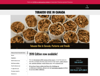 tobaccoreport.ca screenshot