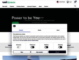 tobiidynavox.com screenshot