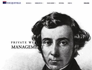tocqueville.com screenshot