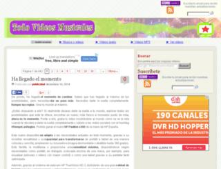 todovideosmusicales.es screenshot