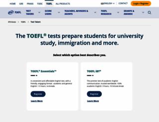 toeflgoanywhere.org screenshot