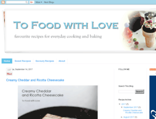 tofoodwithlove.com screenshot