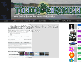 toledochronicle.com screenshot