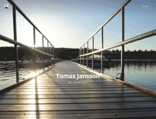 tomasjansson.com screenshot