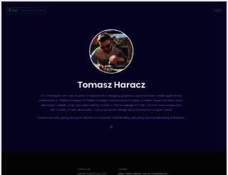tomaszharacz.com screenshot
