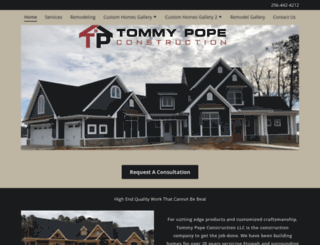 tommypopeconstruction.com screenshot