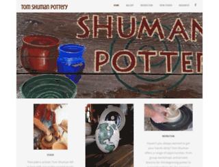 tomshumanpottery.com screenshot