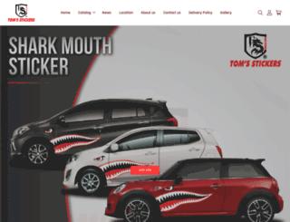 tomsstickers.com screenshot