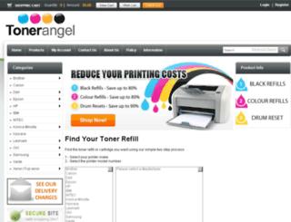 tonerangel.com.au screenshot