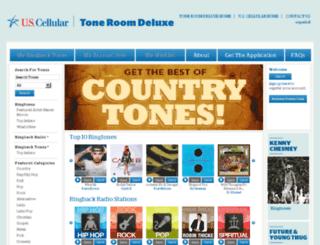 toneroom.uscellular.com screenshot