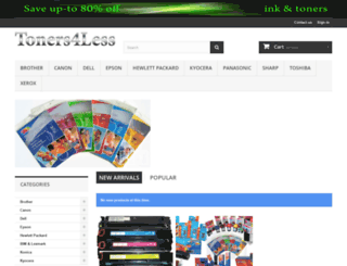 toners4less.com.au screenshot