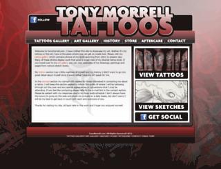 tonymorrell.com screenshot