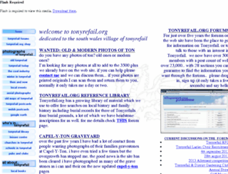 tonyrefail.org screenshot