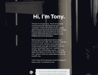tonyrushblog.com screenshot