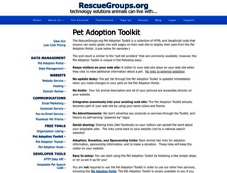 toolkit.rescuegroups.org screenshot