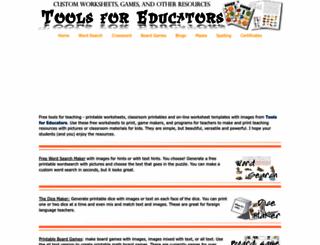 toolsforeducators.com screenshot