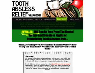 tooth-abscess-relief.com screenshot