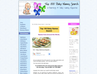 Top 100 Baby Names Search Screenshot