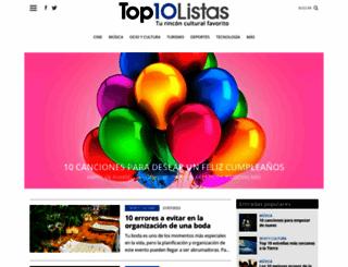 top10listas.com screenshot