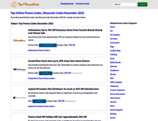 top1promocodes.com screenshot