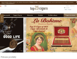 top25cigars.pl screenshot