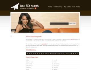 top50songs.net screenshot