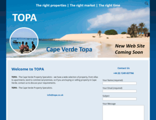 topa.co.uk screenshot