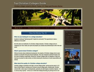 topchristiancolleges.org screenshot