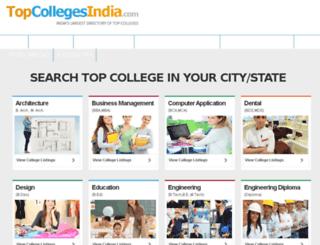 topcollegesindia.com screenshot