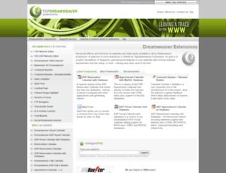 topdreamweaverextensions.com screenshot