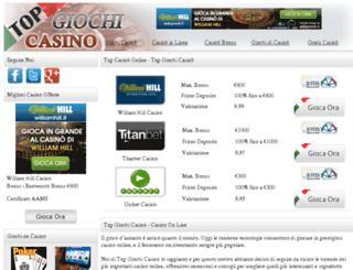 topgiochicasino.com screenshot