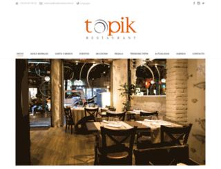 topikrestaurant.es screenshot