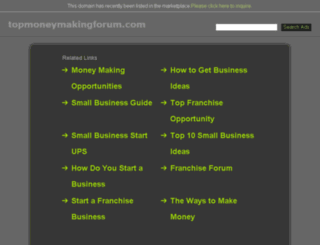 topmoneymakingforum.com screenshot