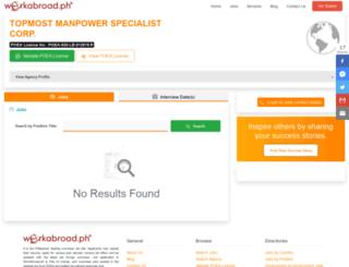 topmostmanpower.workabroad.ph screenshot