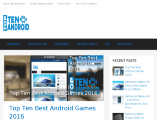 toptenandroid.com screenshot
