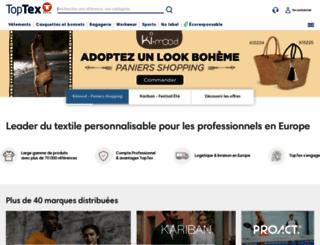 toptex.fr screenshot