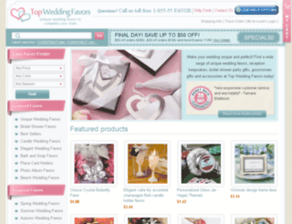 topweddingfavors.com screenshot