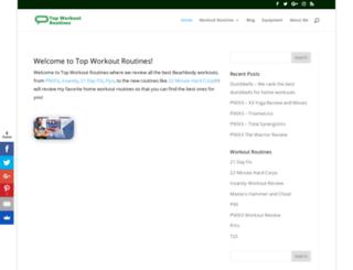 topworkoutroutines.com screenshot