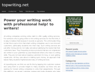 topwriting.net screenshot
