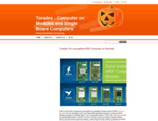 toradex.webnode.com screenshot