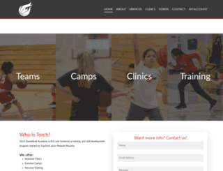 torchbasketballacademy.com screenshot